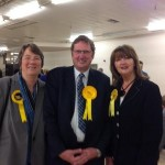 Christine, David and Anne after the Count